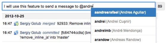 stream messages assembla