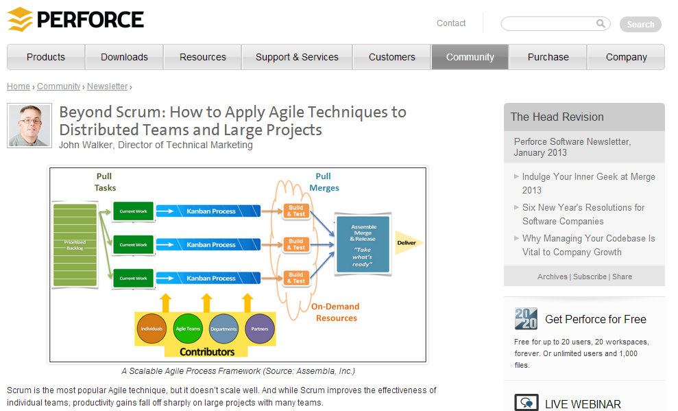 Perforce blog post Beyond Scrum