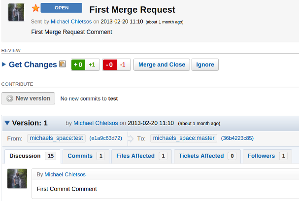 merge request
